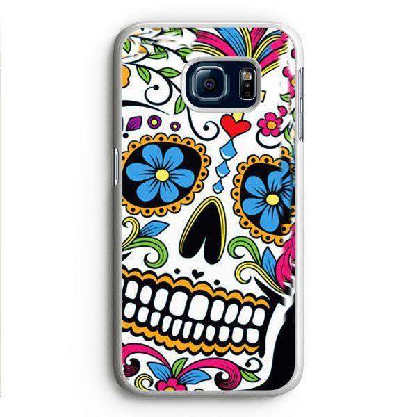 Sugar Skull Dia De Los Muertos Samsung Galaxy S6 Edge Case Aneend