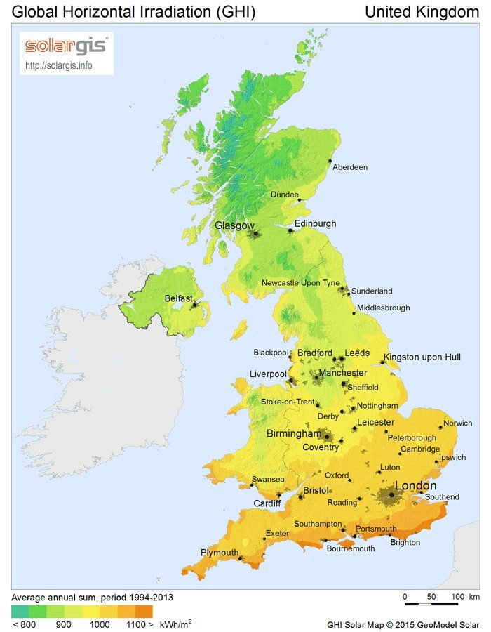 Map 9f Uk.Solar Pv Energy Potential Map Of The United Kingdom Energy Map