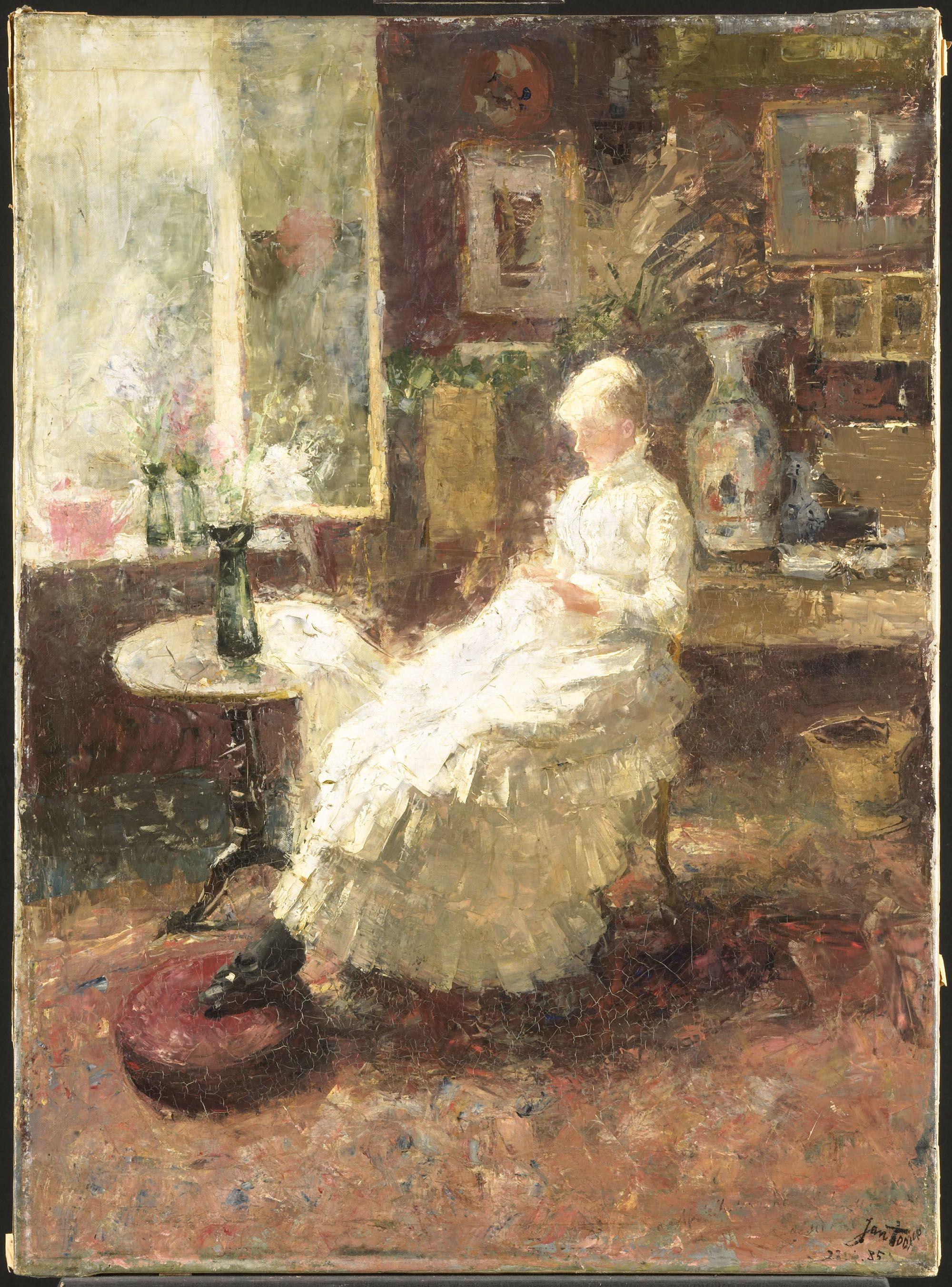 Annie Hall te Lissadell, Surrey, 1885. Jan Toorop