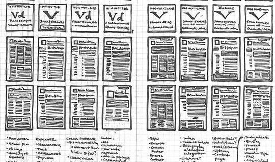 40 Examples Of Web Design Sketches And Wireframes SmashingApps - examples of