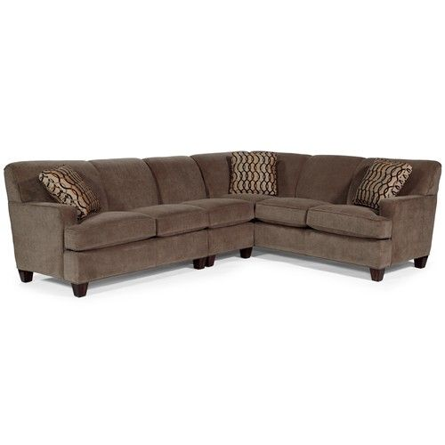 """3 Piece Sectional Sofa with LAF Loveseat  Width: 86""""  x  Depth: 105""""  x  Height: 35"""" - In reverse orientation."""