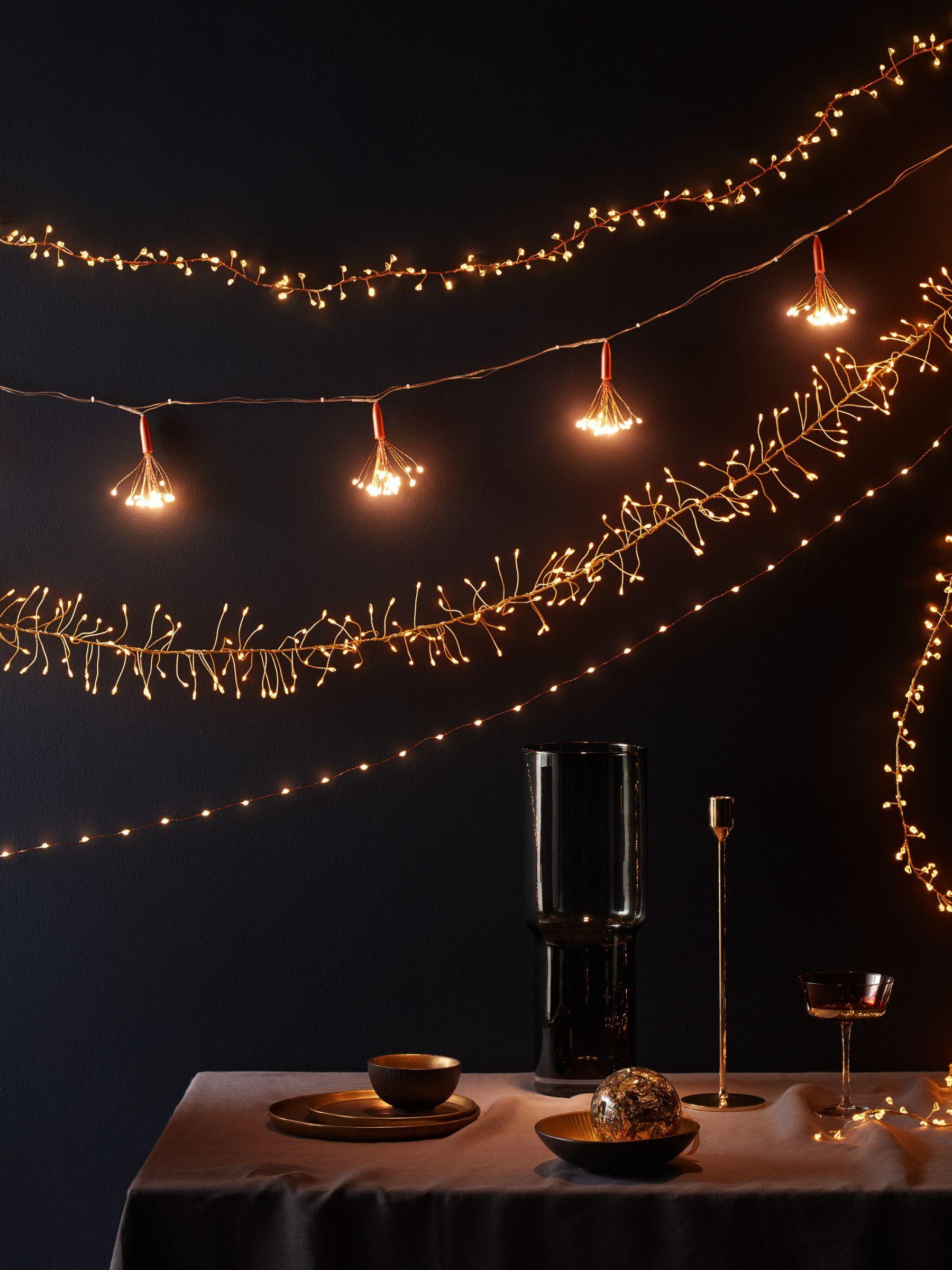 John Lewis & Partners 480 LED Compact Vine Lights, Copper / Pure White, 11m #purewhite