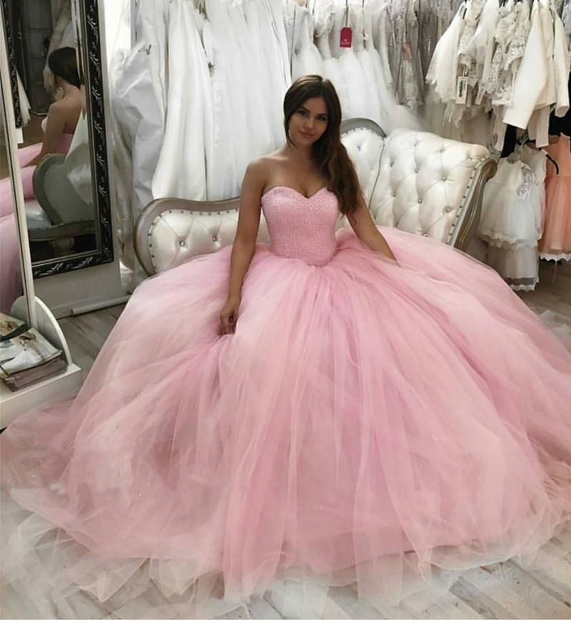 2018 Ball Gowns Wedding Dresses With Bling Bling Sequin: Bling Bling Sequin Beaded Sweetheart Bodice Corset Tulle