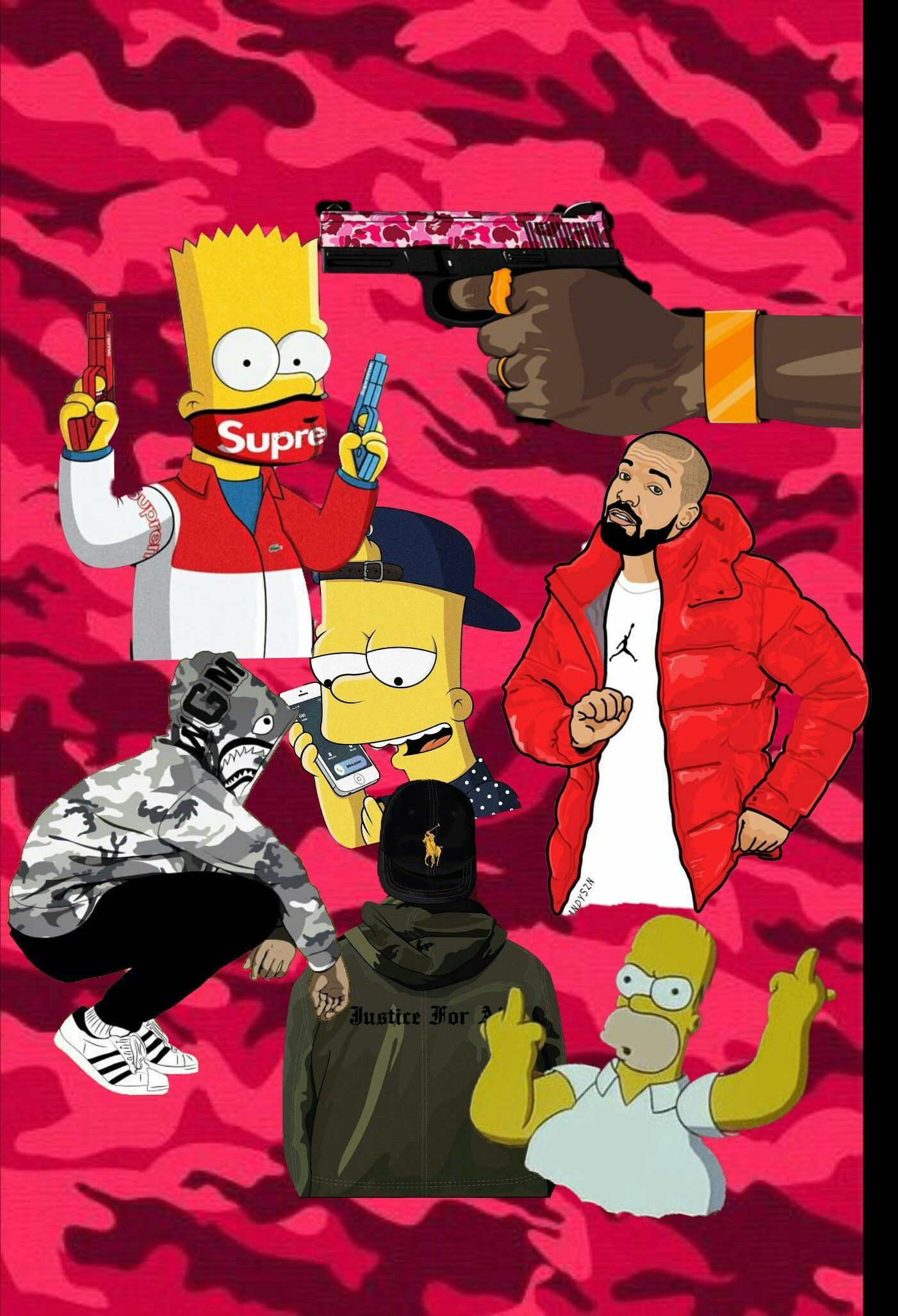 65 Bape Bart Simpson Wallpapers Download At Wallpaperbro Bart Simpson Art Bape Wallpapers Simpson Wallpaper Iphone