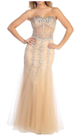 Illusion gown, formal dresses, homecoming dresses, long dresses, illusion, nude, jewels, beading, tulle, sweetheart, prom dresses, party dresses, fishtail