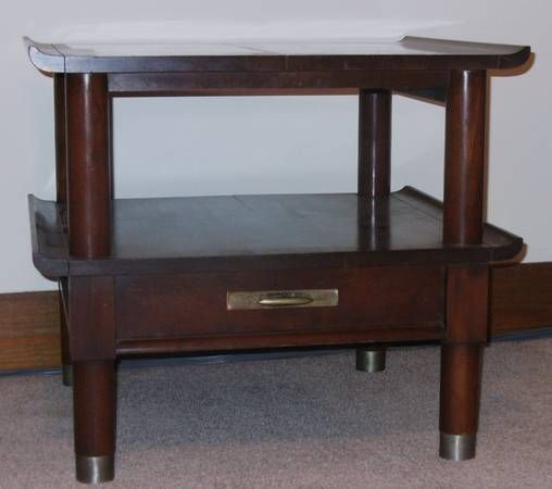 Willett Furniture... cherry Trans East 2 tier end table ...
