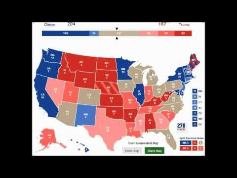 Updated US Election Prediction Map DONALD TRUMP - 2016 us election prediction map