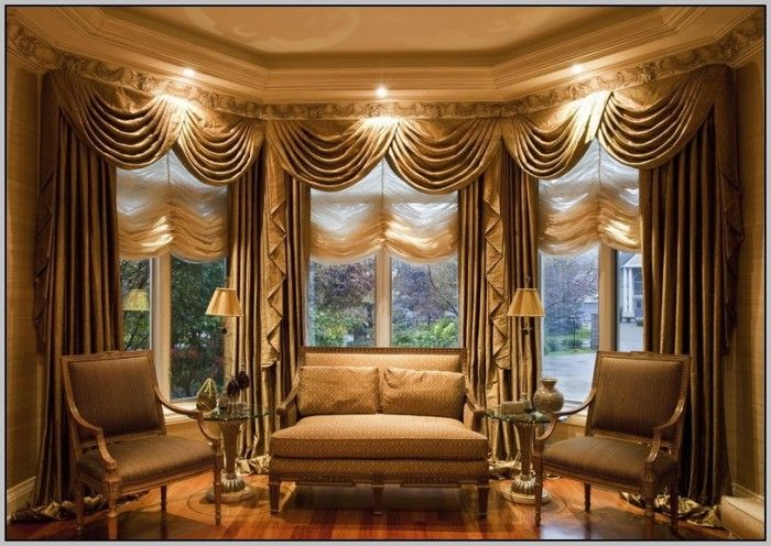 Curved Curtain Rod For Bay Window Curtains Home Design Ideas