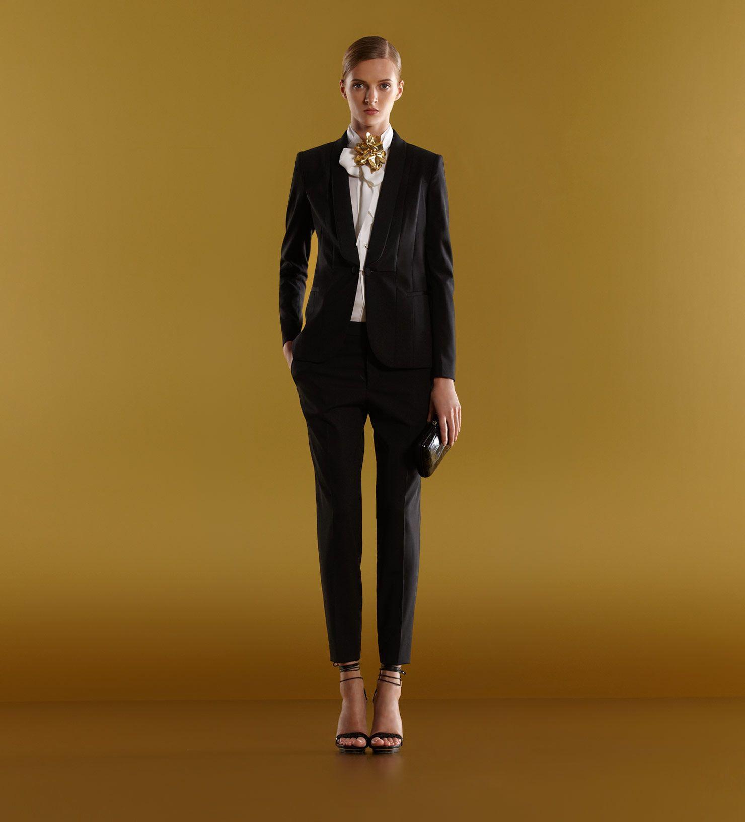 Gucci Tuxedo Jacket Holiday Pant Tie Collar Shirt 1 My Style Zaskia Mecca Elena Blouse Navy