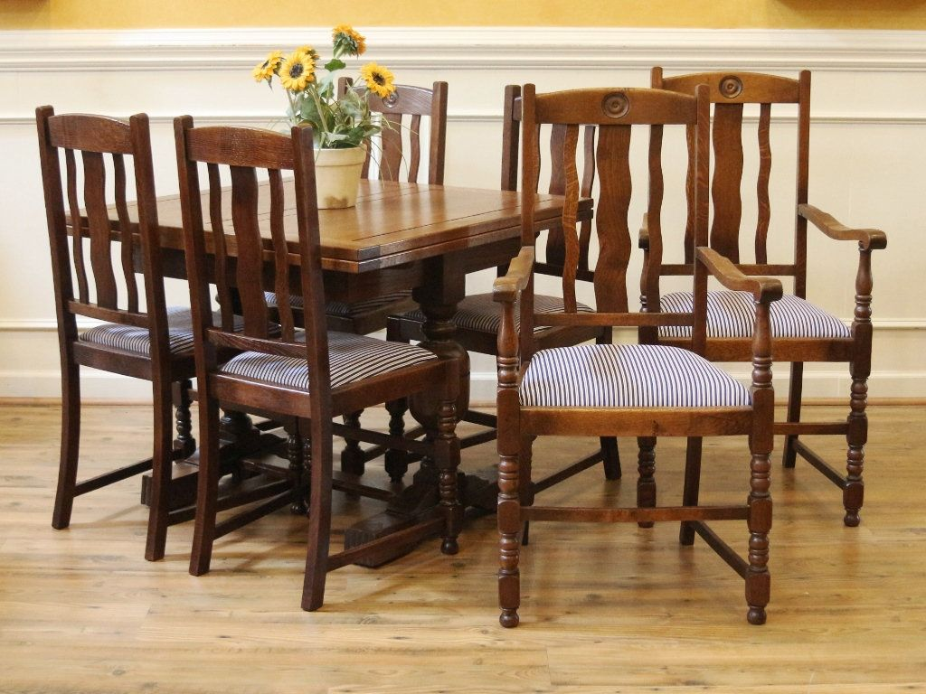 Antique English Oak Pub Table and Chairs Dining Set Draw leaf Extending Table 4 & Antique English Oak Pub Table and Chairs Dining Set Draw leaf ...