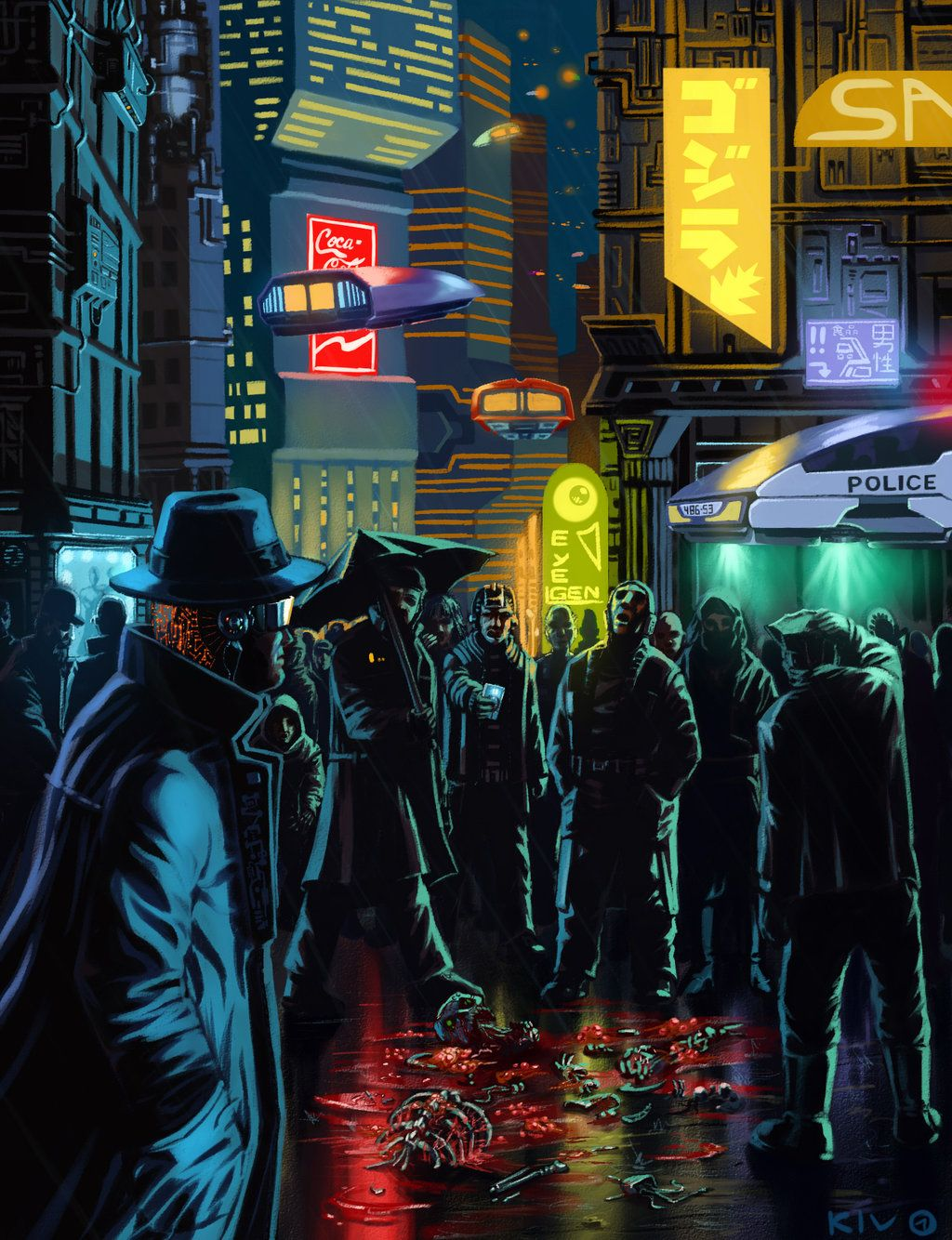 Cyberpunk by Decepticoin. Cyberpunk Art gosstudio .★ We