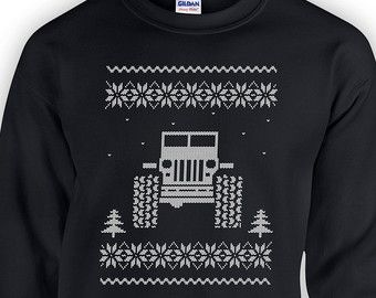 Jeep Ugly Christmas Sweater 4x4 Wrangler Gift Giving Holiday ...