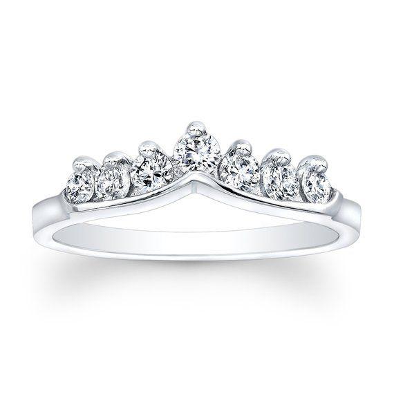 Las 18kt White Gold Diamond Shared G Shadow Wedding Band 0 45 Ctw Vs2 Diamonds