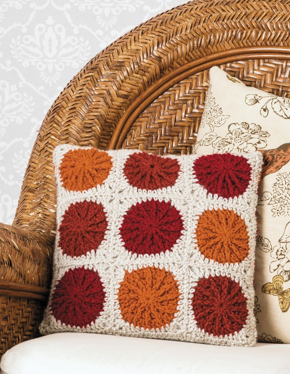 Learn to crochet circles into squares crochet cushion covercushion