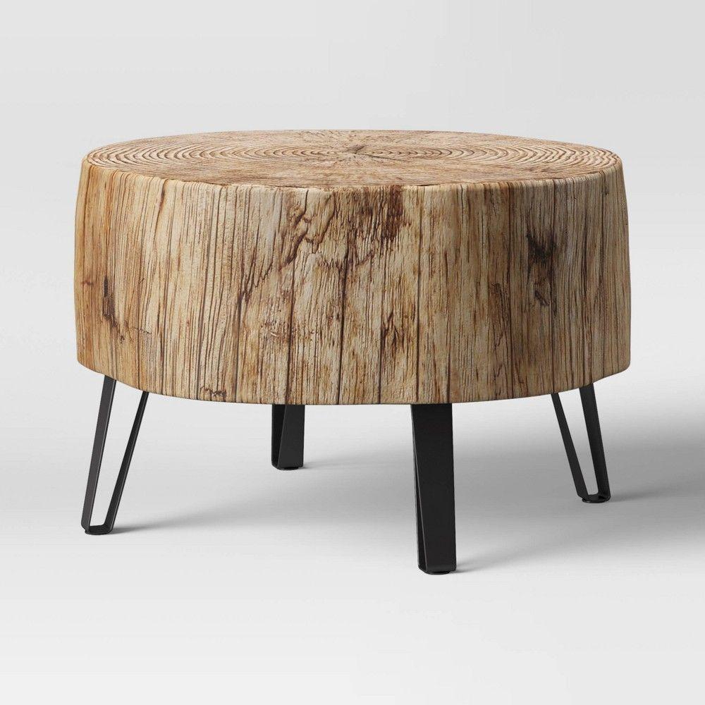 Buchanan Faux Concrete Stump Coffee Table Brown Threshold Stump Coffee Table Coffee Table Round Wood Coffee Table [ 1000 x 1000 Pixel ]