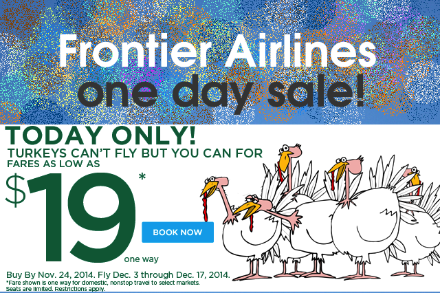 19 Flights 13 Cities To Choose Hot Black Friday From Frontier Airlines