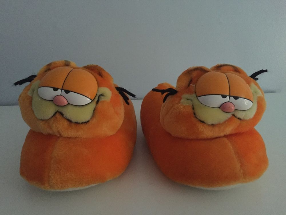 Garfield Plush Youth Slippers House Shoes Large 9 10 Youth Sg Footwear House Shoes Slippers 10 Things