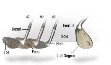 Parts Of The Wedge Golf Club Golf Tips Pinterest