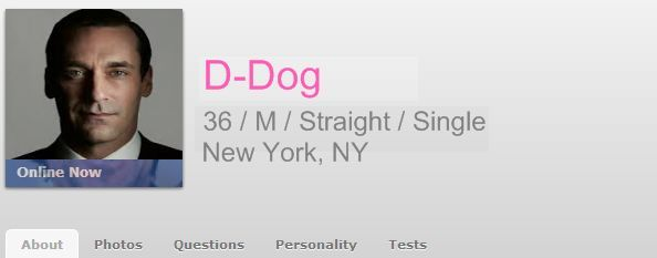 profile header for dating site