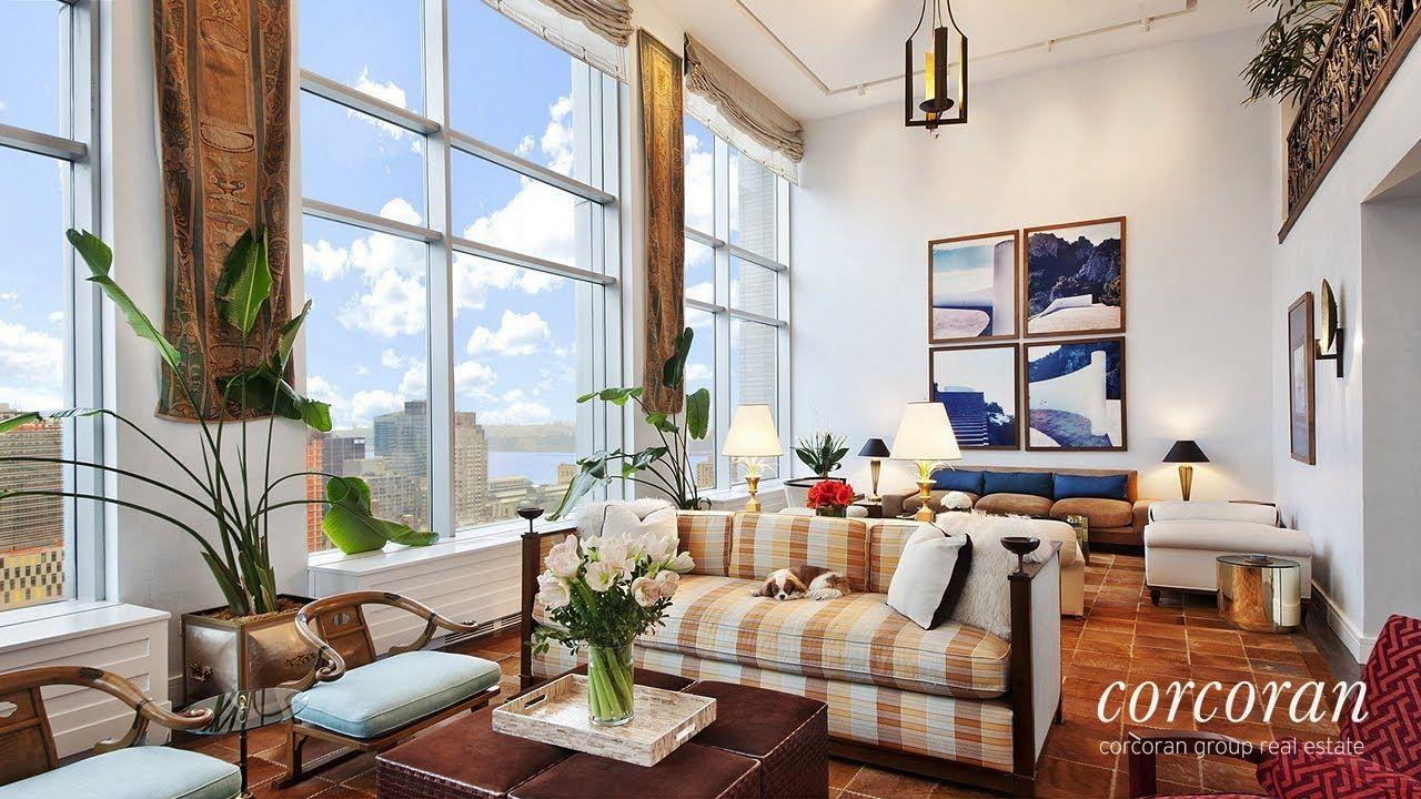 150 Columbus Avenue Penthouse 3b Upper West Side Manhattan New York Youtube Upper West Side Apartment Rectangular Living Rooms Home