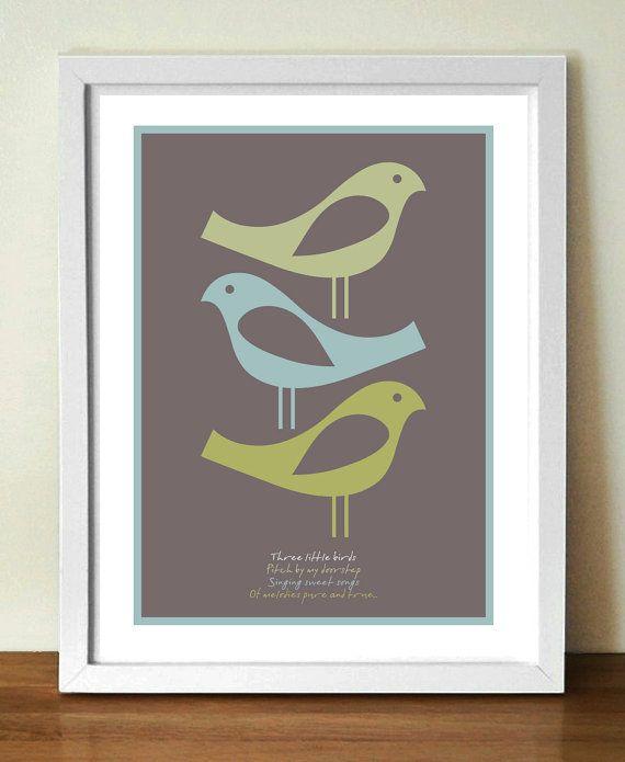 Affiche des paroles de chansons bob marley three little birds trois petits oiseaux paroles - Bob le bricoleur paroles ...