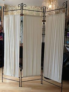 Shabby chic victorian style iron metal room divider dressing privacy