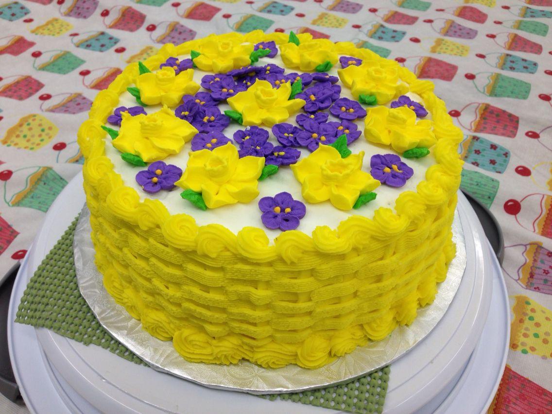 Spring Flower Cake Kiss Me Cake Custom Cakes Cupcakes Cookies