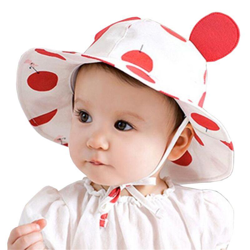 1820165c907d6 Summer Sun Hat Toddler Kids Infant Sun Cotton Cap Autumn Cute Baby Girls  Boys Sun Beach Hat fit 0 to 2 years old
