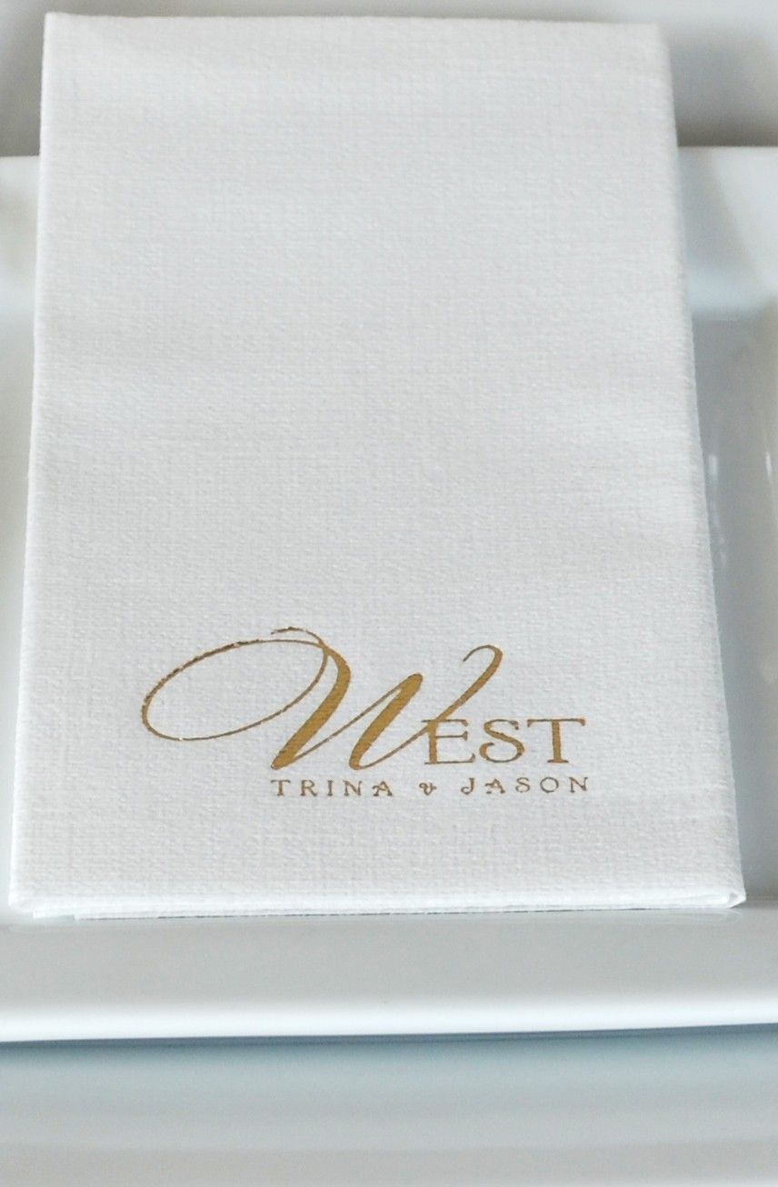 Personalized 1 8 Fold Luxury Linen Like Dinner Napkins