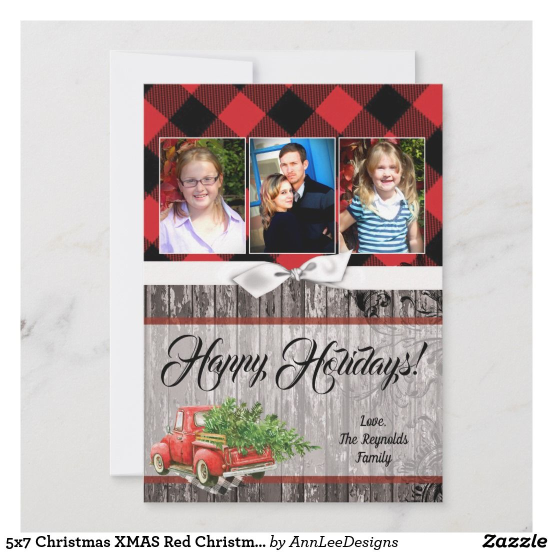 5x7 Christmas Xmas Red Christmas Truck Photo Card This 5x7 Sized Chic And Trendy Christmas Card Is Both 5x7 Christmas Cards Holiday Design Card Christmas Truck