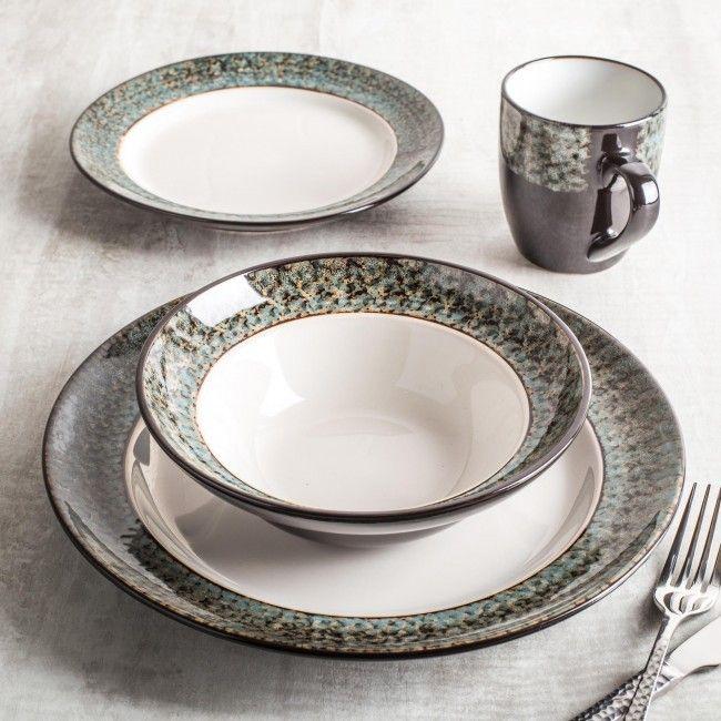 Cuisinart Colette Reactive Stoneware Dinnerware - Set of 16 & Cuisinart Colette Reactive Stoneware Dinnerware - Set of 16 ...