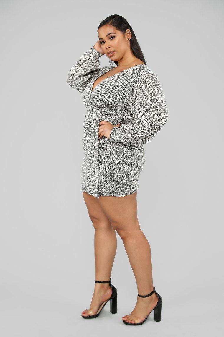 d82e66bb817 Cozy Night Out Sweater Mini Dress - Black