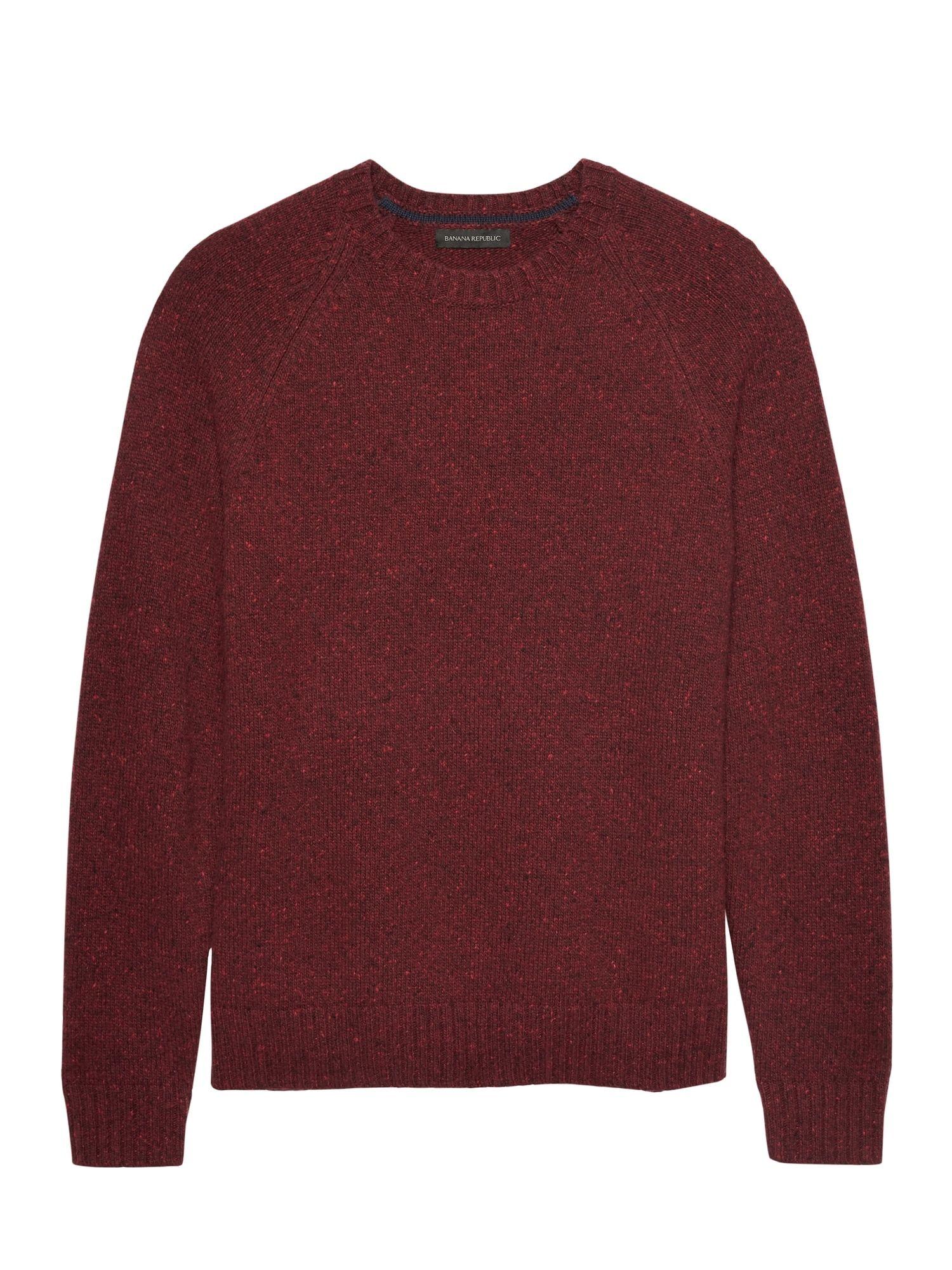 c334620805dc Merino Wool Blend Donegal Crew-Neck Sweater