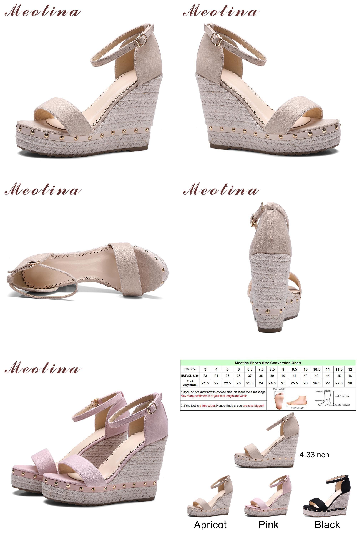 Visit to Buy] Meotina Women Sandals Summer 2017 Platform