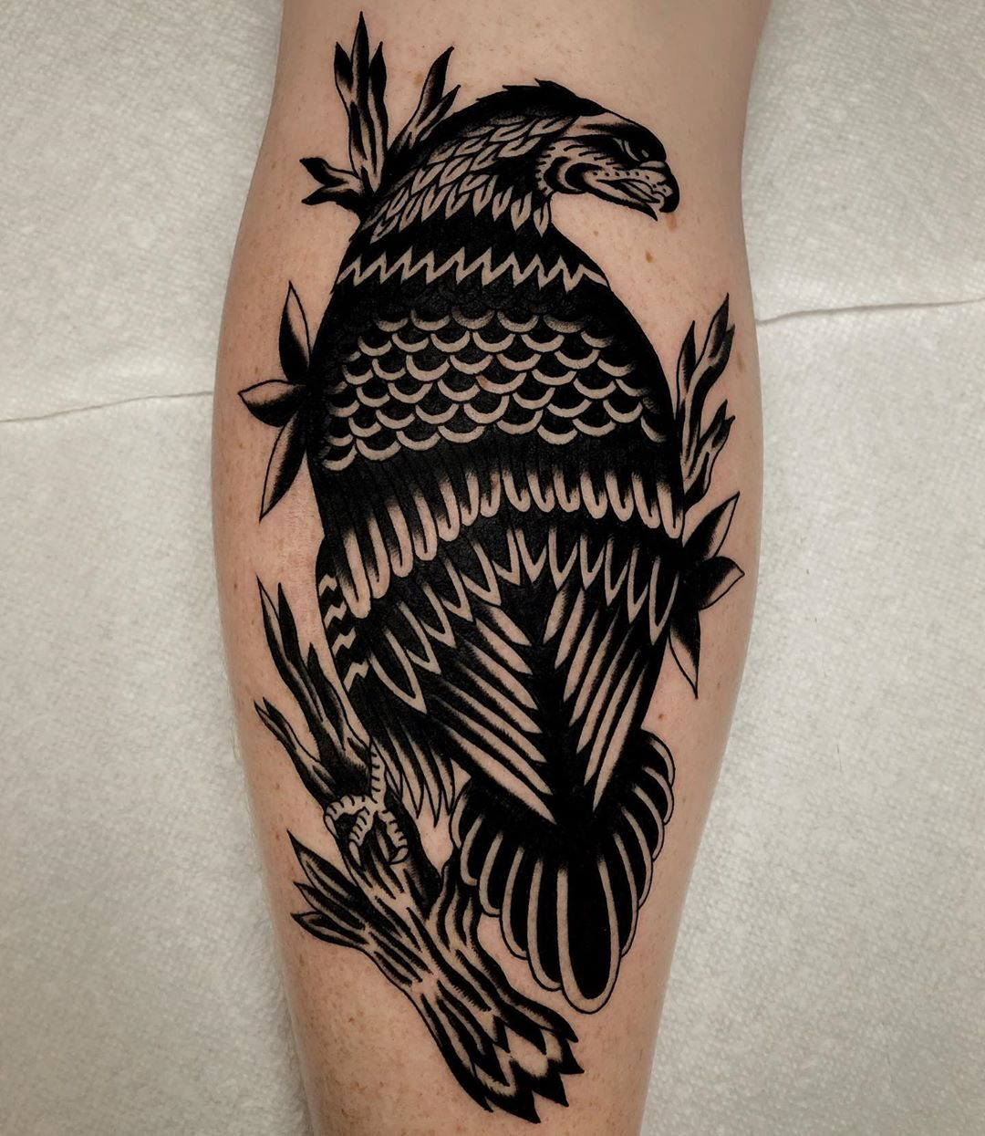 PROFESSOR.YORK Eagle tattoos, White ink, Tribal tattoos