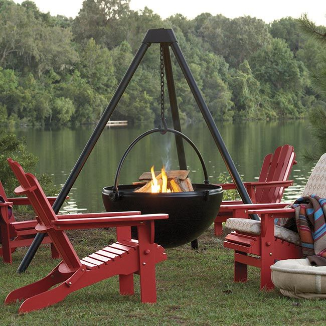Cowboy Cauldron Steel Fire Pit And Grill Fire Pit Bbq Outdoor Fire Pit Backyard Fire