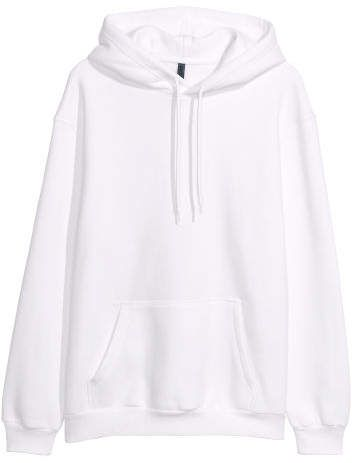 6243ae4232 H&M Hooded Sweatshirt - White in 2019 | Halloween | Sweatshirts ...