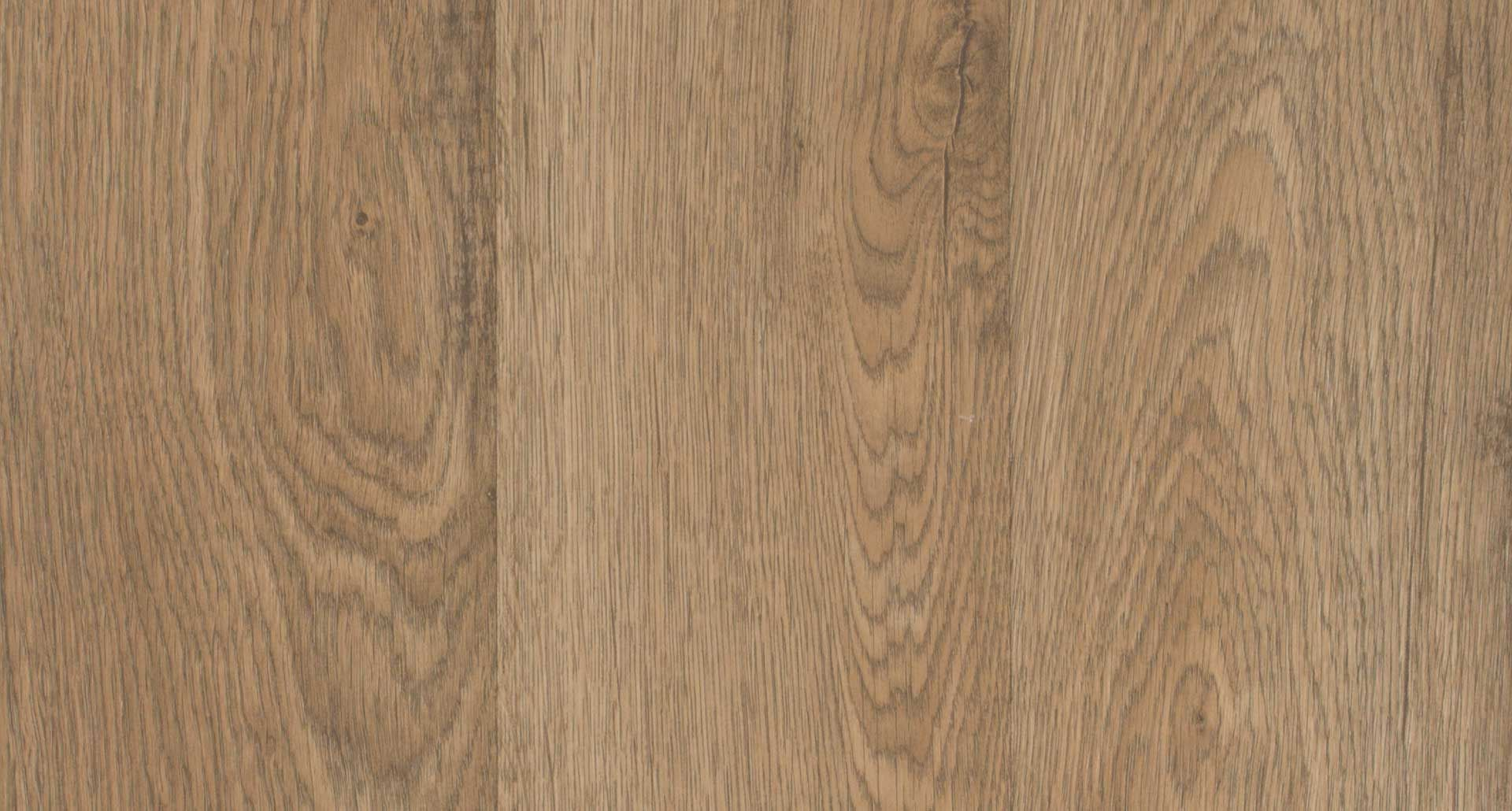Prairie Ridge Oak smooth laminate floor. Warm wood colors, oak finish, 10mm 1-strip plank laminate flooring, easy to install, PERGO lifetime warranty.