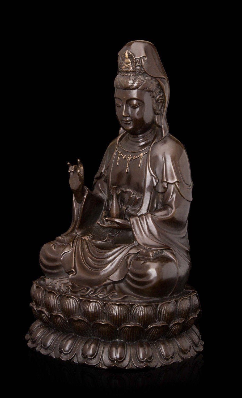 Guanyin Buddha amulet pendant Statue Bronze Bodhisattva old God Mercy Kwan yin