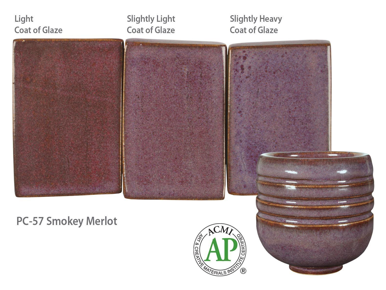 Smokey Merlot Pc-57 AMACO Potters Choice Lead-Free Non-Toxic Glaze