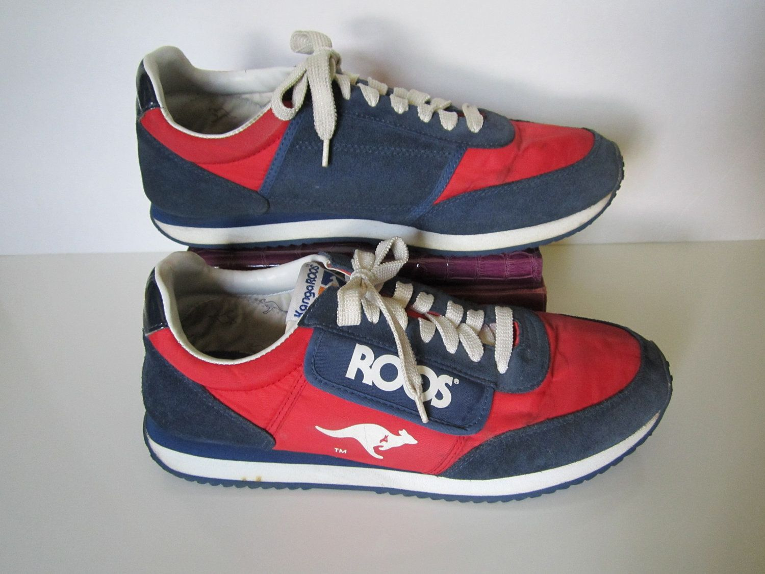 c0a43498e195 1980 s Vintage KangaROOS Red Blue Tennis Shoes Mens 10.  45.00