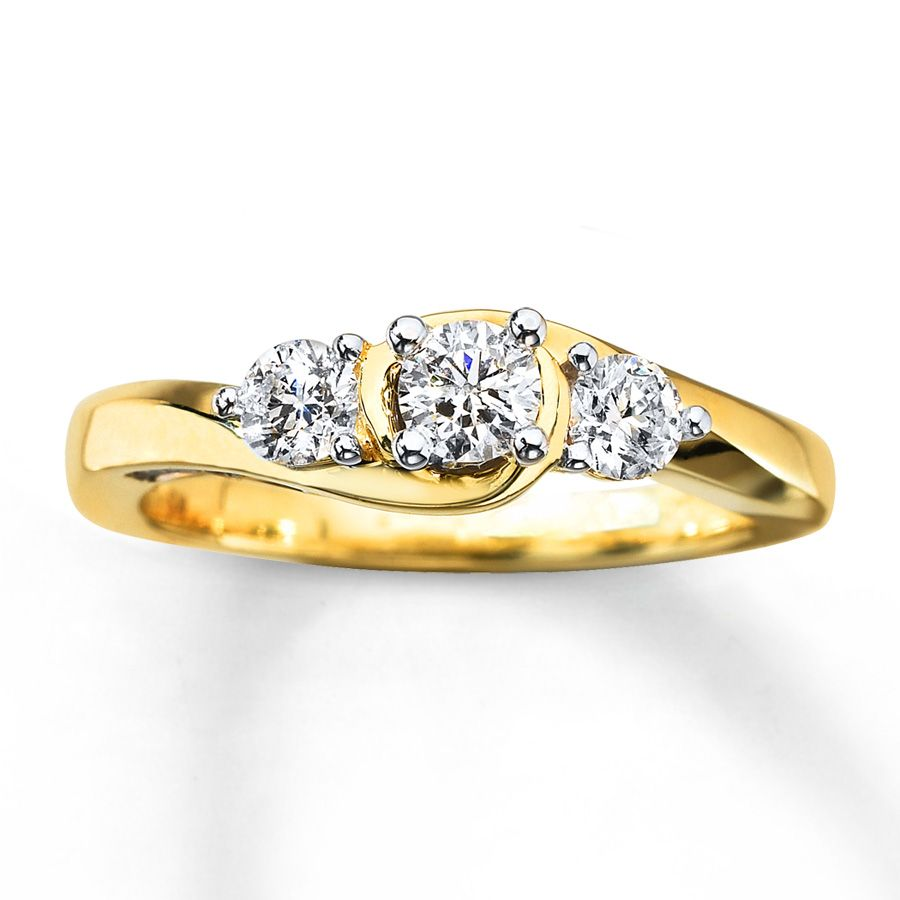 24ct gold 3 DIAMOND YELLOW GOLD RING - Google Search | wedding ...