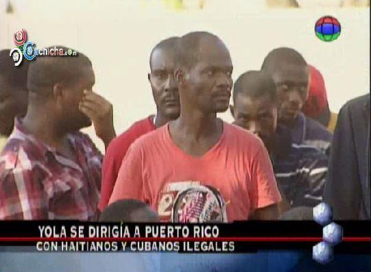 Interceptan Yola Que Se Dirigía A Puerto Rico Con Haitianos, Cubanos Y Dominicanos Ilegales #Video