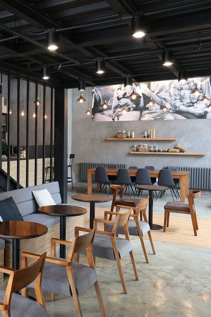 this french eatery pairs rustic decor with industrial detailing
