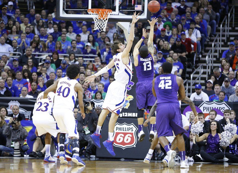 Pin By Marci Stowell On I Ku Basketball Pictures Basketball Knee Kansas Basketball
