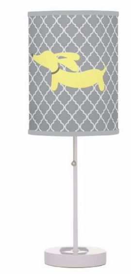 Yellow and gray dachshund decor let's you share a little doxie love with a splash of style.