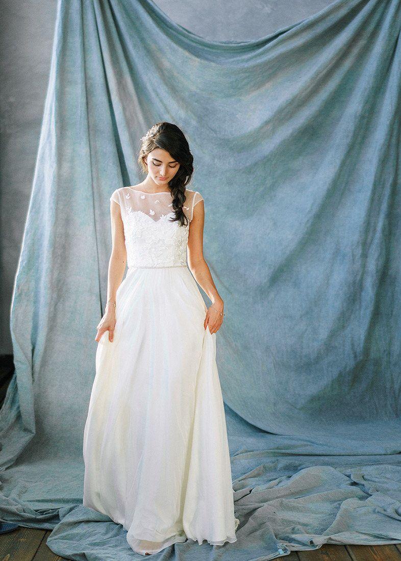 Wedding dress novelaromantic wedding dressivory lace wedding dress