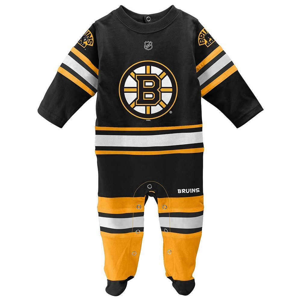 fffb683a8fb Baby Reebok Boston Bruins Footed Bodysuit, Infant Unisex, Size: 0-3 Months,  Black