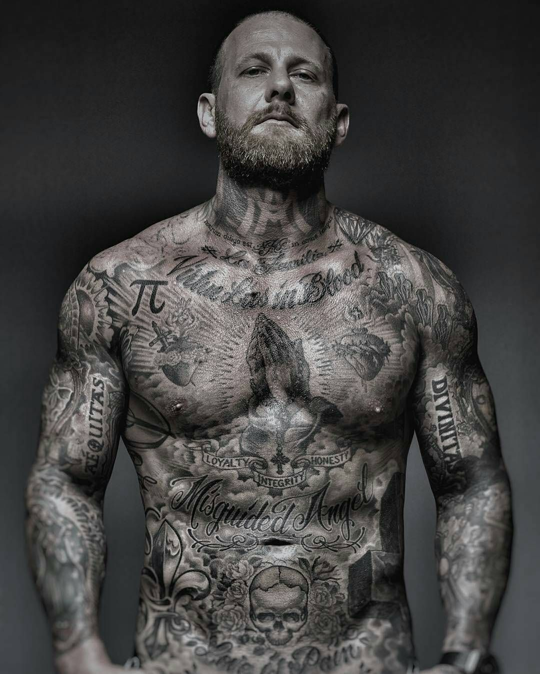 Image May Contain 1 Person Body Tattoo Design Full Body Tattoo Cool Chest Tattoos