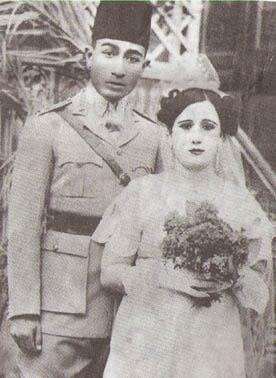 انور السادات و زوجتة الاولي Anwar Sadat With His First Wife